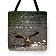This Much Tote Bag by Myrna Migala