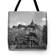 This Old House In Black And White Tote Bag