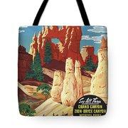 This Summer - Visit Bryce Canyon National Par, Utah, Usa - Retro Travel Poster - Vintage Poster Tote Bag