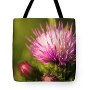 Thistle Flowers Tote Bag