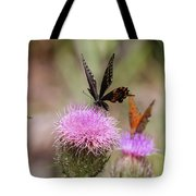 Thistle Pollinators - Large And Small Tote Bag