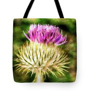 Thistle - The Flower Of Scotland Watercolour Effect. Tote Bag