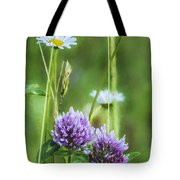 Clover And Daisies Tote Bag