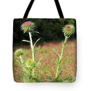 Thistles In A Field Of Clover Tote Bag