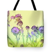 Thistles Under The Sun Tote Bag