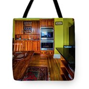 Thomas Kitchen With Old Fashioned Icebox And Refrigerator Tote Bag