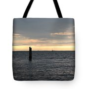 Thomas Point - The Morning Sun Over The Bay Tote Bag