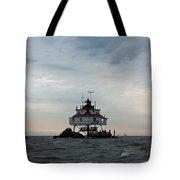 Thomas Point Shoal Lighthouse - Icon Of The Chesapeake Bay Tote Bag