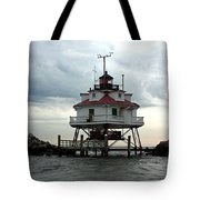 Thomas Point Shoal Lighthouse - Up Close Tote Bag