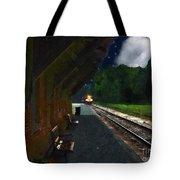 Thomaston Train At Night Tote Bag