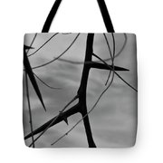 Thorns In Silouette Tote Bag