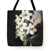 Thornton: White Lily Tote Bag