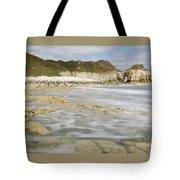 Thornwick Bay At Flamborough Tote Bag