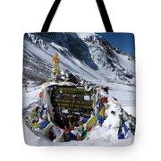 Thorong La Pass, Annapurna Circuit, Nepal Tote Bag