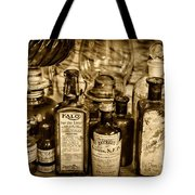 Those Old Apothecary Bottles In Sepia Tote Bag