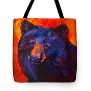 Thoughtful - Black Bear Tote Bag