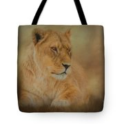 Thoughtful Lioness - Horizontal Tote Bag