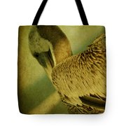 Thoughtful Pelican Tote Bag
