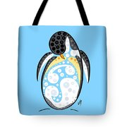 Thoughts And Colors Series Penguin Tote Bag