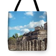 Thousand Columns And Temple Of The Warriors Tote Bag