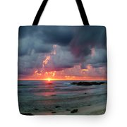 Threatening Sky Above The Caribbean Sea Off Isle De Mujeras' North Shore Tote Bag