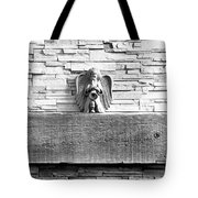 Three Angels On A Mantel Tote Bag
