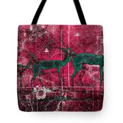 Three Antelope On Red Tote Bag