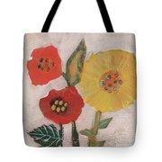 Three Awkward Flower Blossoms Tote Bag