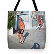 Three Beefcakes Tote Bag