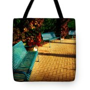 Three Benches Tote Bag