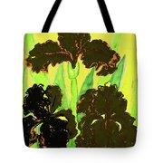 Three Black Irises, Painting Tote Bag