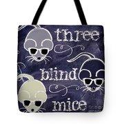 Three Blind Mice Children Chalk Art Tote Bag