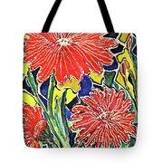 Three Red Blooms Tote Bag