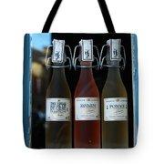 Three Bottles Of Liqueur Tote Bag