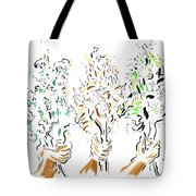 Three Bouquets Tote Bag
