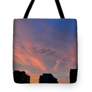 Three Buildings And Sky  Tote Bag