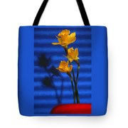Three Cheers - Yellow Daffodils In A Red Bowl Tote Bag