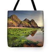 Three Cliffs Bay 3 Tote Bag