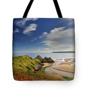 Three Cliffs Bay 4 Tote Bag