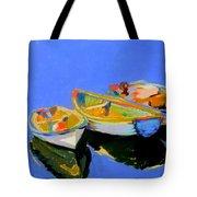 Three Colourful Boats Tote Bag