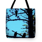 Three Crows In A Tree Tote Bag