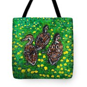 Three Ducklings Tote Bag