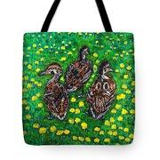 Three Ducklings Tote Bag