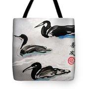 Three Ducks Tote Bag