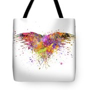 Three Eyed Crow In Watercolor Art Tote Bag