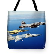 Three F-5e Tiger II Fighter Aircraft Tote Bag