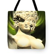 Three Faced Statue Tote Bag