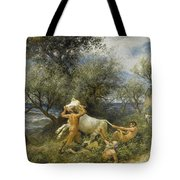 Three Faun With Cow And Calf Tote Bag