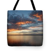 Three Fiery Clouds Tote Bag