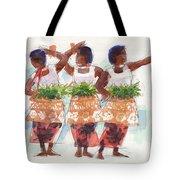 Three Fijian Dancers Tote Bag